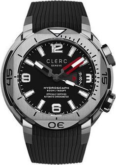 Clerc Watch Hydroscaph H1 Auto #add-content #bezel-unidirectional #bracelet-strap-rubber #brand-clerc #case-depth-15-4mm #case-material-steel #case-width-48mm #cosc-yes #date-yes #delivery-timescale-1-2-weeks #dial-colour-black #gender-mens #luxury #movement-automatic #official-stockist-for-clerc-watches #packaging-clerc-watch-packaging #style-divers #subcat-hydroscaph-h1-chronometer #supplier-model-no-h1-1-1-5-black #warranty-clerc-official-2-year-guarantee #water-resistant-500m