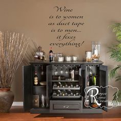 Hey, I found this really awesome Etsy listing at https://www.etsy.com/listing/178532325/wine-wall-art-wine-decal-wine-is-to