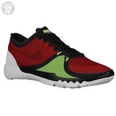 Nike Mens Free Trainer 3.0 V4 Running Shoes (Red, Black, Volt) Sz. 7 (*Amazon Partner-Link)