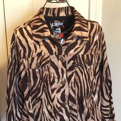 NWT CAROL LITTLE LINEN ANIMAL PRINT JACKET NWT CAROL LITTLE LINEN ANIMAL PRINT JACKET Carole Little Jackets & Coats Blazers
