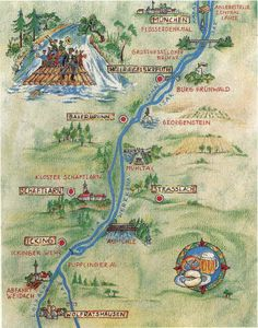 Luxury Map of Isar River Flossfahrt Raft Trip Munich Germany