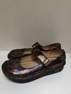 e59cd9ecd386 Alegria PAL-330W Multucolored Leather Womens Shoes SZ EU 42 US 11-115.