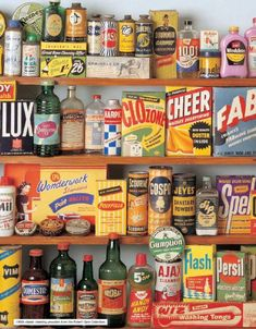 Cleaning products back in the good ol' days. Vintage Tins, Vintage Love, Retro Vintage, Retro Ads, Vintage Stuff, Vintage Packaging, Food Packaging, Packaging Boxes, Retro Recipes