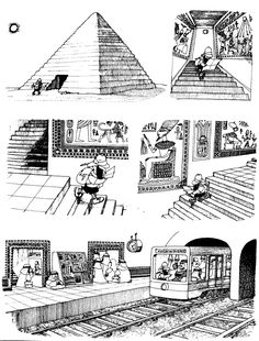 Quino - Gente en su sitio (People in their Place) Everything And Nothing, Cartoon Drawings, Art Drawings, Humor Grafico, Slums, Caricature, Vignettes, Finding Yourself, Cartoons