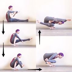 """329 Likes, 48 Comments - Laura Large (@omniyogagirl) on Instagram: """"✨ Flying Ninja Tutorial ✨  1. Come to sit in Dandasana or staff pose, with the legs straight out in…"""""""