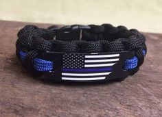 Police Officer Thin Blue Line Gift  American Flag by EMSALERTS