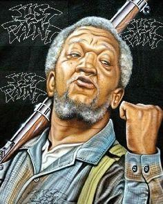 Artwork of Fred Sanford of Sanford and Son - Redd Foxx. Black Love Art, My Black Is Beautiful, African American Art, African Art, African Culture, American Women, Redd Foxx, Sanford And Son, Black Art Pictures