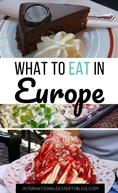 The BEST desserts and sweets are in Europe! Check out this list of authentic traditional mouthwatering treats you must try on your trip to Europe! You'll find easy desserts from Germany fruit desserts holiday desserts pastries gluten free and more. Desserts To Make, Holiday Desserts, Dessert Blog, Dessert Recipes, Best Street Food, International Recipes, Foodie Travel, Food Inspiration, Food And Drink