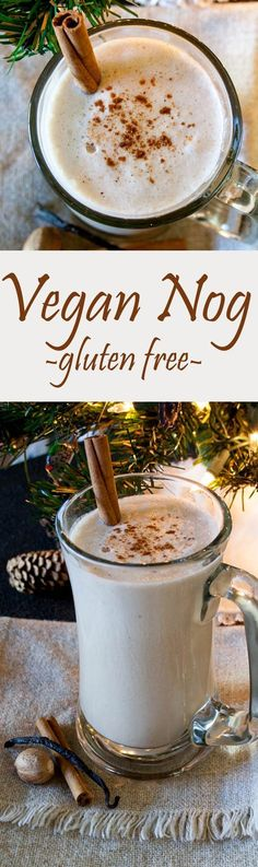 Vegan Nog (gluten free, dairy free, egg free) - This recipe is perfect for the holidays. It is made with dates, fresh nutmeg, and a vanilla bean.