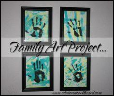 Family Art Project..  www.ClutteredCorkboard.com