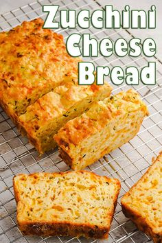 This Zucchini Cheese Bread has a subtle zucchini flavor, but packs a powerful, cheesy punch thanks to lots of sharp cheddar and Parmesan. #zucchini #cheesebread #zucchinibread Zucchini Bread Muffins, Zucchini Cheese, Cheese Bread, Low Carb Recipes, Bread Recipes, Baking Recipes, Snack Recipes, Snacks, Creamed Onions