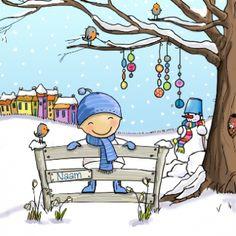 Een winters geboortekaartje door Koningkaart
