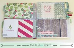 Base pages - very cute album Holiday Mini Album - Two Peas in a Bucket