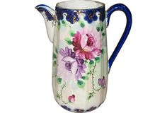Hand-Painted Ceramic Pitcher