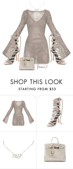 """Untitled #3349"" by breannamules ❤ liked on Polyvore featuring Monika Chiang, Christian Dior and Hermès"