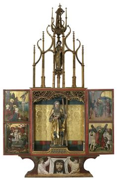 Medieval winged altarpiece to travel to London Europe Centrale, Medieval Art, Altars, All Saints, Wood Carving, Hungary, Bellisima, Wings, London