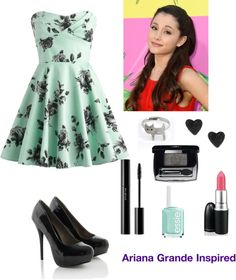 """Ariana Grande Inspired"" by thats-lovelyxx ❤ liked on Polyvore"