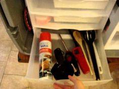 Organized camp kitchen!  I love this chuck box.