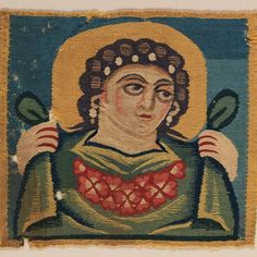 """Coptic, handwoven """"Head of Spring"""" 5th-7th century, Egypt"""