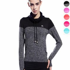 Women Yoga Shirts Yoga Top Quick Dry High Collar Women Tees Sports Shirt Running Gym Fitness Shirt Clothes Sportswear Coat Tops