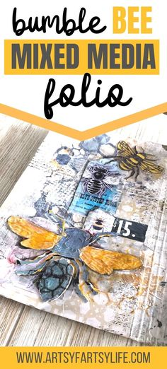I wanted to do a project with my Free printable bee ephemera, and after taking a Dina Wakley class I thought that using Dina Wakely Gloss Sprays would be a great way to combine my bees and the projects I had made in class! Here are my best tips and ideas for using gloss sprays in a folio project! Easy Paper Crafts, Diy Craft Projects, Craft Tutorials, Crafts To Make, Fun Crafts, Cool Journals, Adult Crafts, How To Make Diy, Vintage Crafts