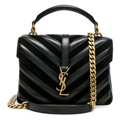 Saint Laurent Medium Leather & Suede Patchwork Monogramme College Bag (€2.125) ❤ liked on Polyvore featuring bags, handbags, handbag's, yves saint laurent handbags, genuine leather purse, quilted handbags, patchwork leather handbags and suede purse