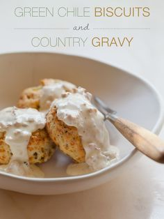 Green Chile and Cheddar Biscuits with Country Gravy | Spoon Fork Bacon