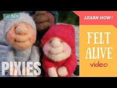 Needle Felting PIXIES Easy Tutorial for Beginners - over an hour of fun! - YouTube
