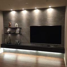 施工写真054 | 【アドヴァン】タイルやフローリング、洗面など総合建材のネット販売 Tv Set Design, My Home Design, House Design, Woman Cave, Home Tv, Interior Decorating, Interior Design, Living Room Tv, Inspiration Wall