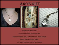 Crystal Necklace Aros Gift