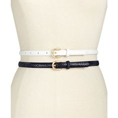 Inc International Concepts 2-for-1 Skinny Belts, ($22) ❤ liked on Polyvore featuring accessories, belts, skinny belt, inc international concepts and thin belt