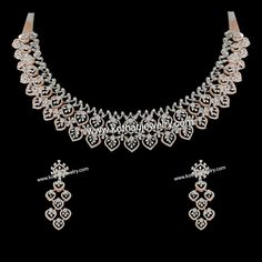 South Indian Party Wear Diamond Necklace Set Diamond Necklace Set, Emerald Necklace, Gold Pendent, Diamond Pendant, Bridal Bangles, Gold Bangles, Indian Party Wear, Gold Bangle Bracelet, Jewelry Stores