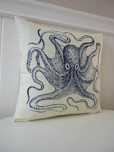 Pillow.  Maybe add some Alburtus Seba with iron on transfer.