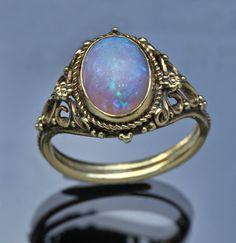 Edward Spencer Gold Opal Ring  British 1905
