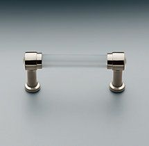 Grafton Clear Glass Pull. Restoration Hardware. Love.