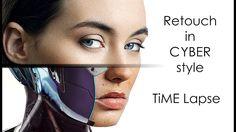 Cyberpunk Woman photoshop tutorial #fashion  #photoshopart  #art  #retouching