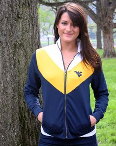 Get all Mountaineer colors in the Gameday Track Jacket. Now on sale $40!