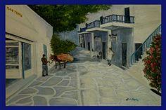 Mykonos Village Scene - Emmanuel Marcou