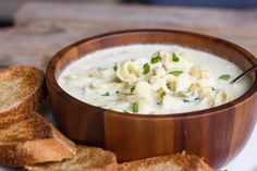 A creamy soup flavored with garlic, artichoke hearts, parmesan cheese, cream cheese, and a little cayenne pepper for some heat.