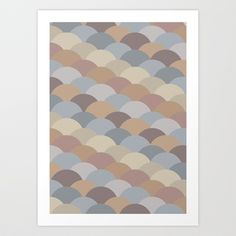 Circles Abstract 1 Art Print by Kimsey Price - $15.60