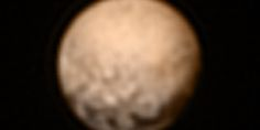 What are those weird dark patches on Pluto?  Photos beamed back recently by NASA's New Horizons spacecraft show several evenly spaced spots along the equator of the icy dwarf planet. Scientist