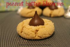 Peanut Butter Blossoms: Just in time for the holidays, this peanut buttery cookie is rolled in sugar and topped with a kiss!