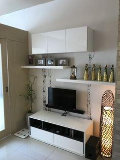 Condo Interior Design, Brick Interior, Condo Design, Apartment Design, House Design, Small Condo Living, Condo Living Room, Living Area, Small Apartments