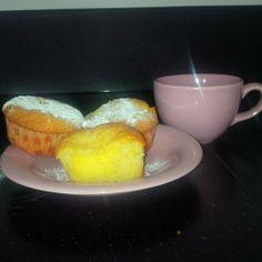 Cupcake met gele room