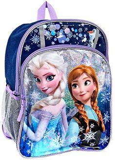 "Disney Frozen Anna & Elsa Sparkle 16"" Backpack Disney Frozen http://www.amazon.com/dp/B00LKBUBSE/ref=cm_sw_r_pi_dp_v6fkub0DDB4QH"
