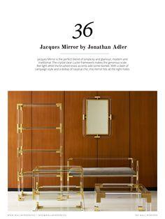 """""""Un miroir peut être un élément déterminant dans le décor d'une pièce! Luxxuhas a préparé cet ebook qui vous montrera les dernières tendances et les meilleurs conseils sur les miroirs muraux, avec des pièces des plus grands designers et marques de design au monde comme Jonthan Adler ou Boca do Lobo. """""""