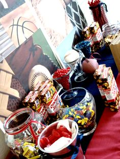 Sports Birthday Party Candy Buffet