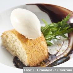 Tortino di nocciole brasiliane con gelato di whiskey, curry e cioccolato - Chef Alex Atala