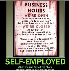 Be your own boss and get more our of your life!