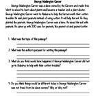 A short and simple history lesson about George Washington Carver. Includes a short passage with comprehension questions to follow. Also for your cr...